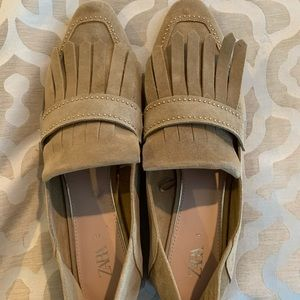 Zara suede loafers size 10